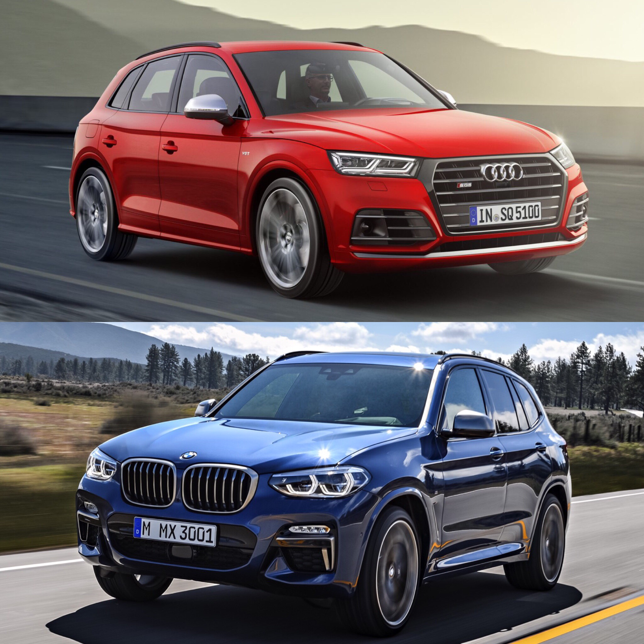 photo comparison audi sq5 vs bmw x3 m40i. Black Bedroom Furniture Sets. Home Design Ideas