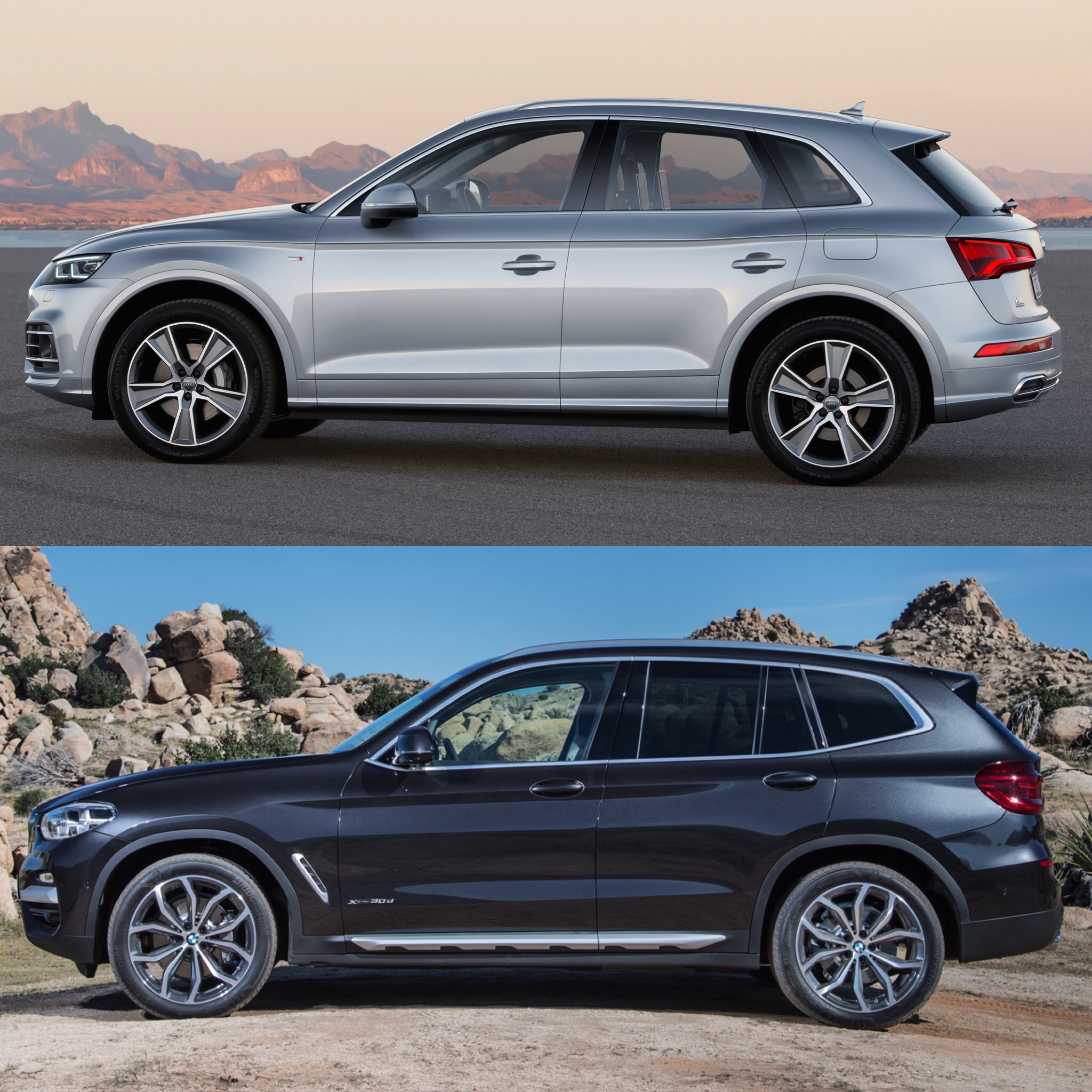 Photo Comparison: 2018 Audi Q5 Vs 2018 BMW X3