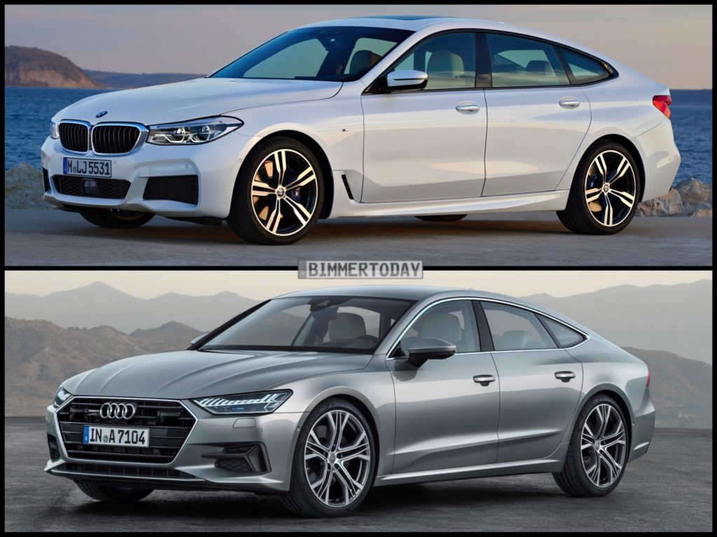 photo comparison 2018 audi a7 vs bmw 6 series gran turismo. Black Bedroom Furniture Sets. Home Design Ideas