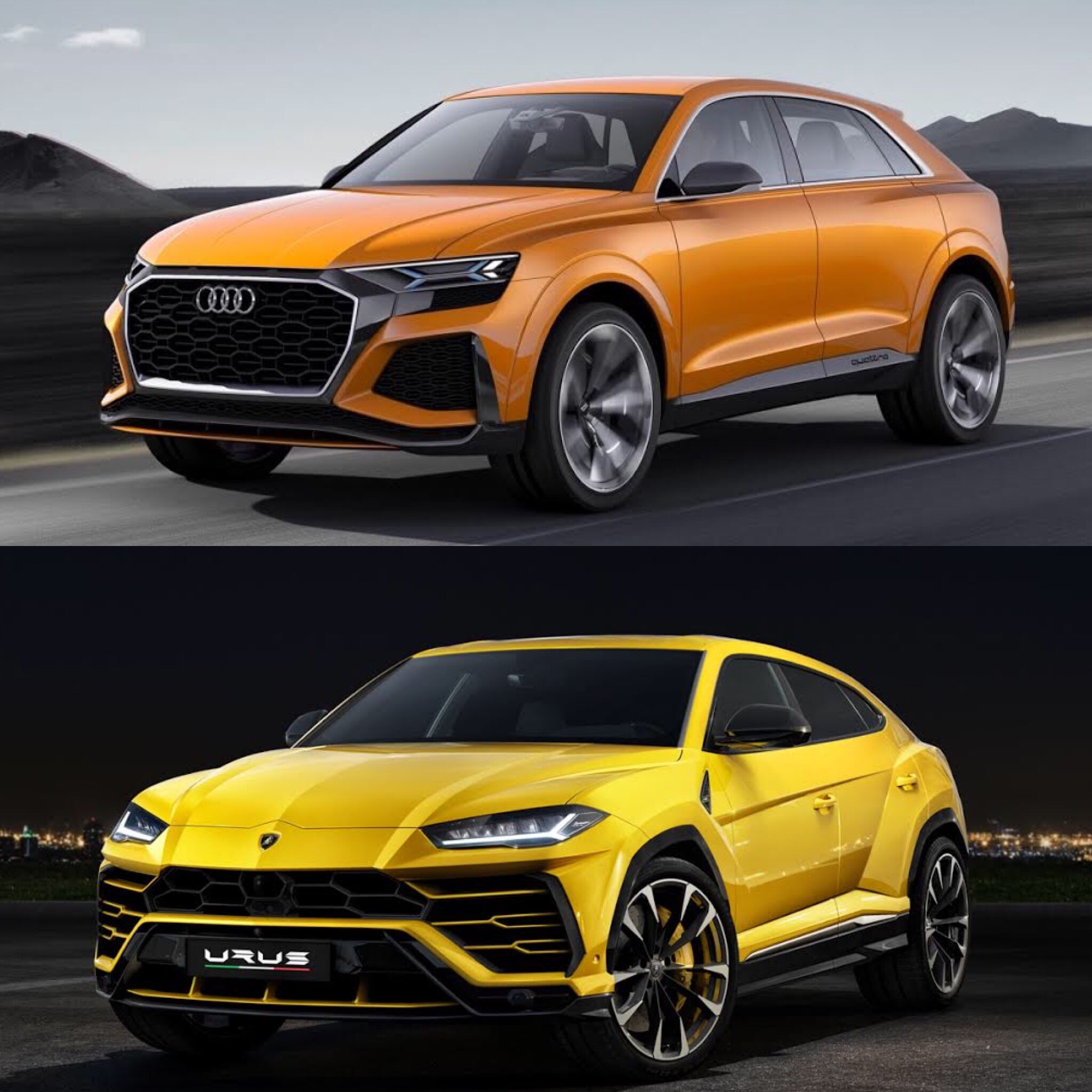 Photo Comparison: Audi Q8 Concept vs Lamborghini Urus
