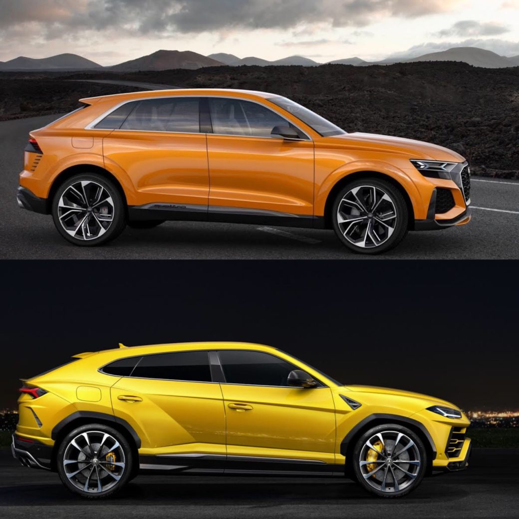 Photo Comparison Audi Q8 Concept Vs Lamborghini Urus