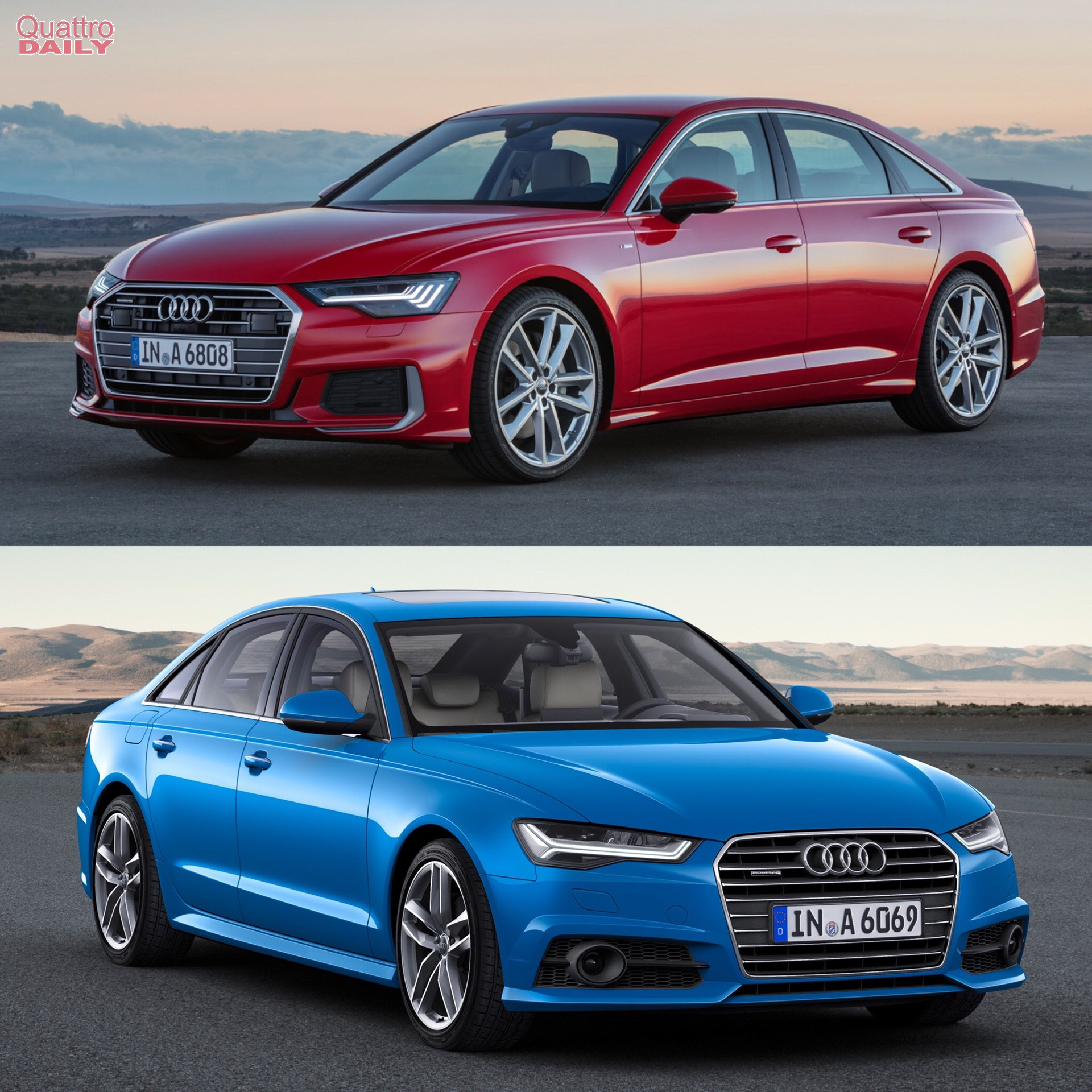 photo comparison audi a6 old c7 generation vs c8 generation. Black Bedroom Furniture Sets. Home Design Ideas