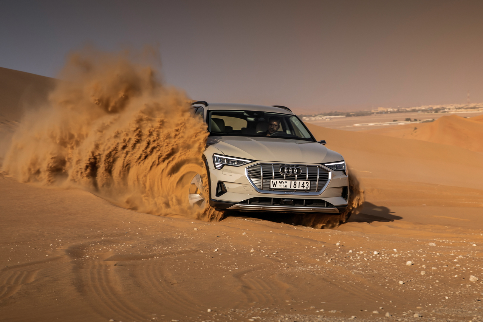 Check out this massive photo gallery of the Audi e-tron in Abu Dhabi