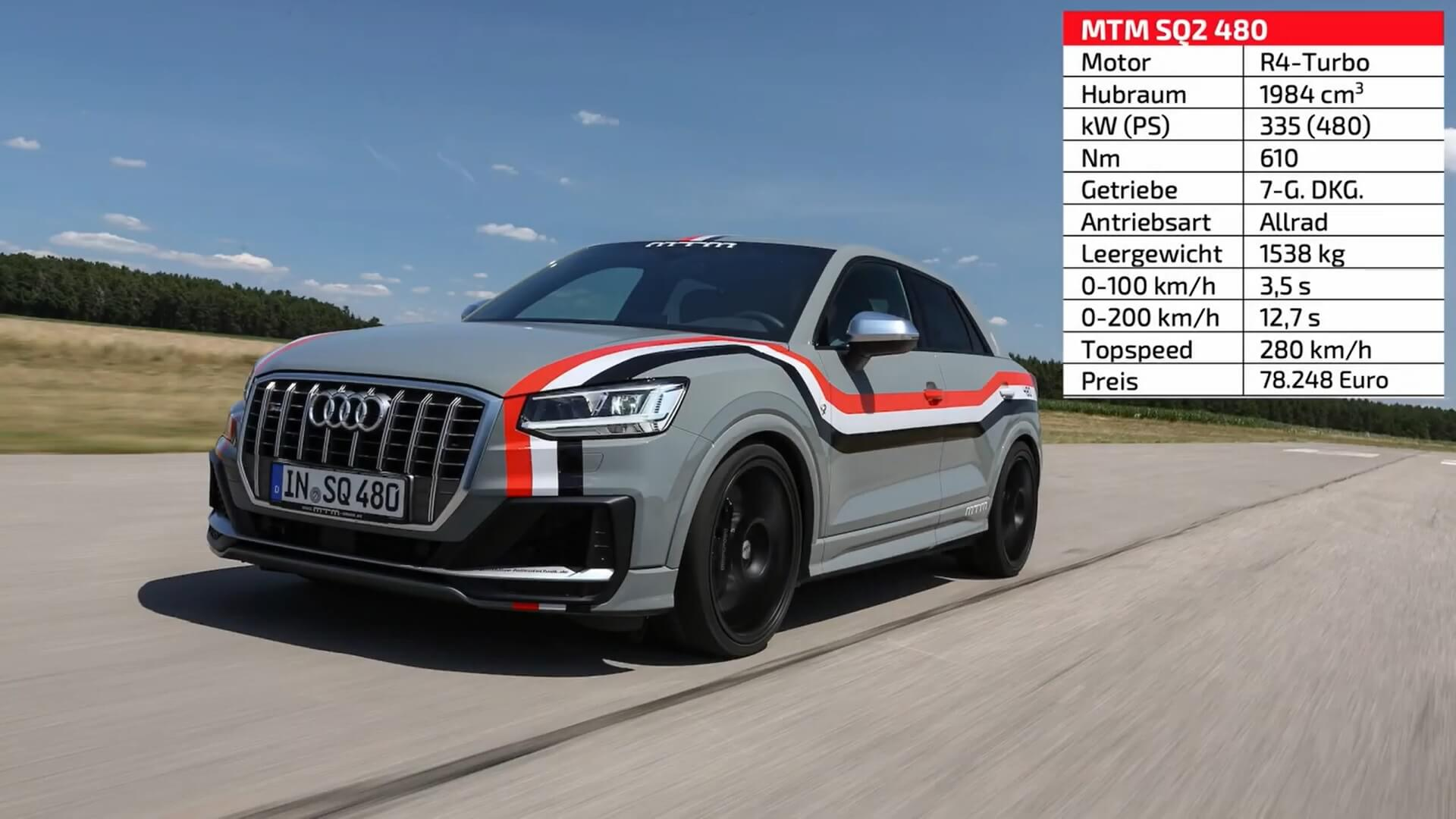 Audi Sq2 Tuned By Mtm Beats Bmw X3 M Competition At Sachsenring